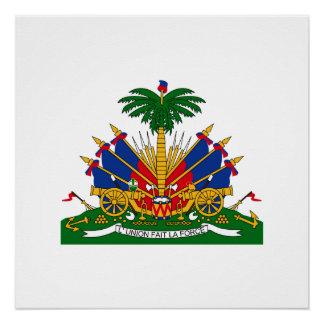 Haitian coat of arms poster