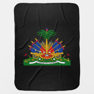 Haitian coat of arms swaddle blanket