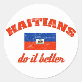 Haitian do it better classic round sticker