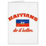Haitian do it better greeting cards