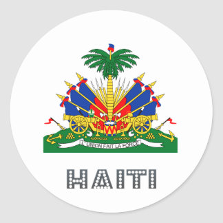 Haitian Emblem Classic Round Sticker