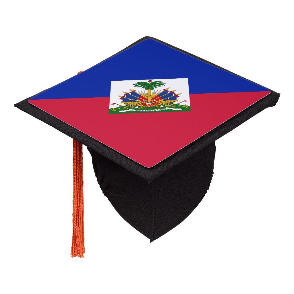 Haitian flag graduation cap topper