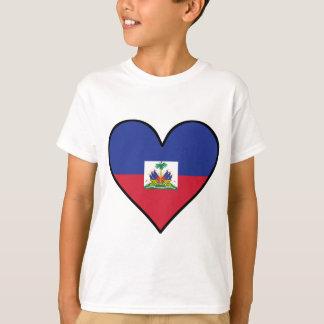 Haitian Flag Heart T-Shirt