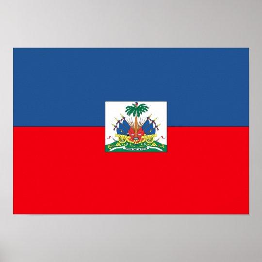 Haitian Flag Poster