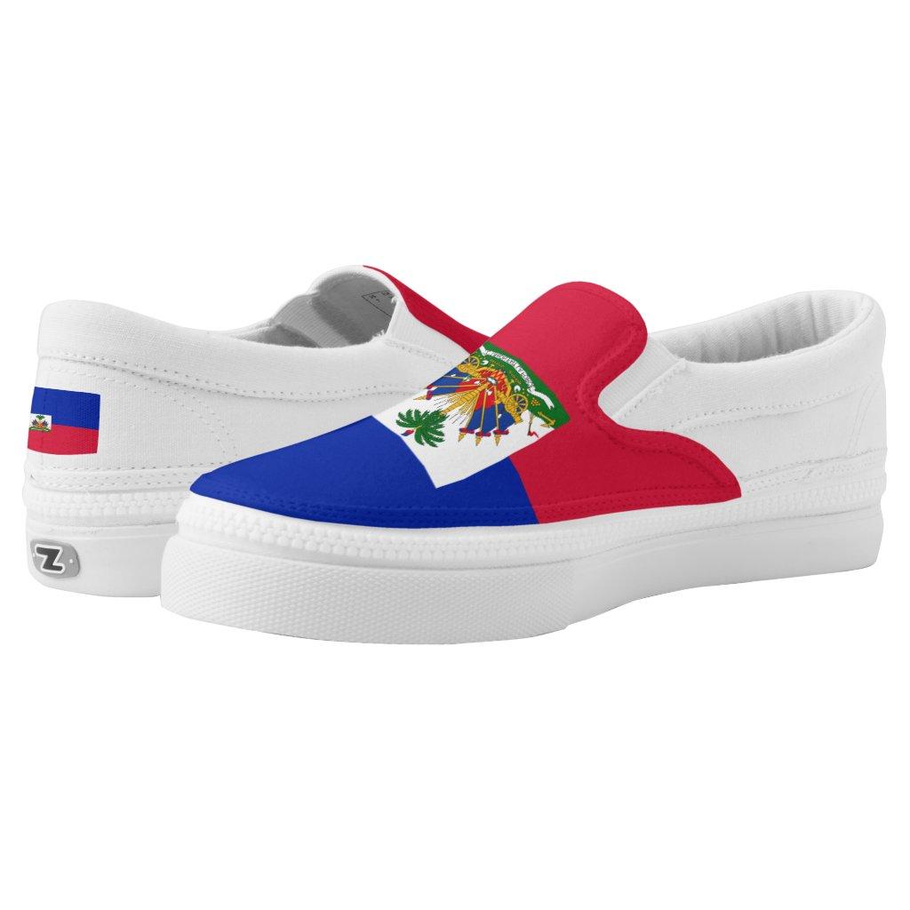 Haitian flag Slip-On sneakers