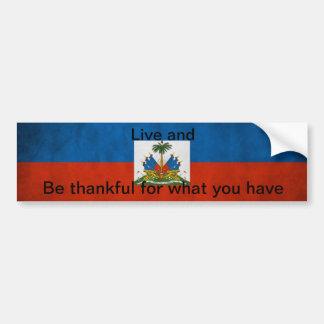 Haitian flag tag bumper sticker