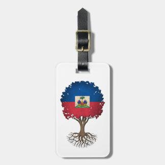 Haitian Flag Tree of Life Customizable Luggage Tag
