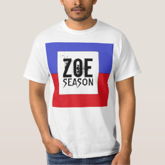 Haitian Flag Zoe Season T-Shirt