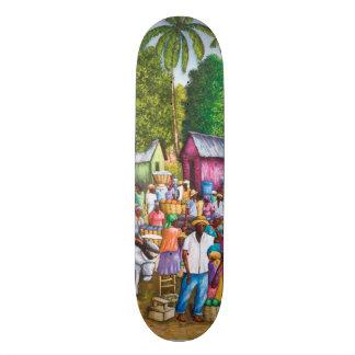 Haitian Market Place Print Skateboard