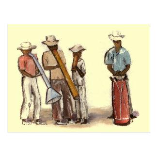 Haitian Street Musicians Postcard
