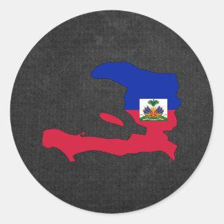 Haitian Trip Souvenir Classic Round Sticker