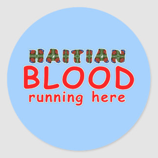 haitianblood002 classic round sticker