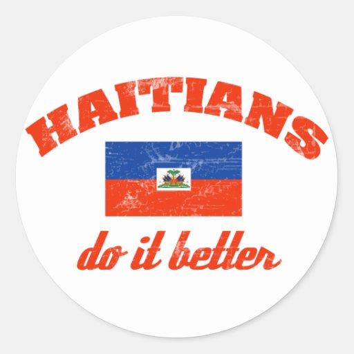 Haitiano mejora pegatina redonda
