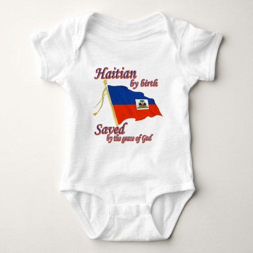 Haitiano por el nacimiento ahorrado por la gracia playeras