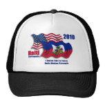 Haitiano y banderas que agitan americanas para Hai Gorras De Camionero