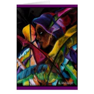 Haitienne en Vitraux Greeting Card