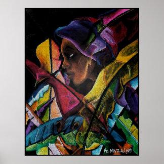 Haitienne en Vitraux II - en mosaïque Print