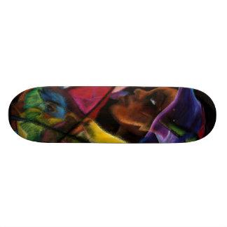 Haitienne en Vitraux III - en verre d'eau Skate Board