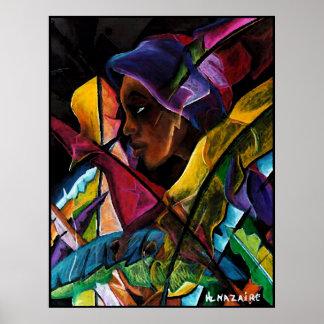 Haitienne en Vitraux V - en papier soie Posters