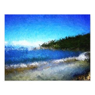 "Haitilabadee_Painting 4.25"" X 5.5"" Invitation Card"