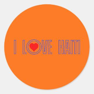 haitilove010 classic round sticker