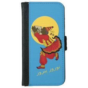 Haji Firooz Blue Sky Eid e Norooz iPhone 6/6s Wallet Case
