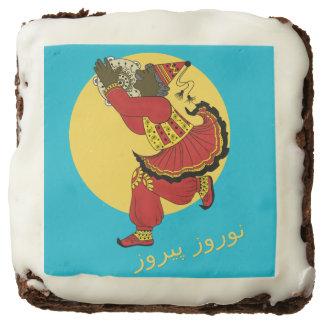 Haji Firooz Blue Sky Eid e Norooz Square Brownie