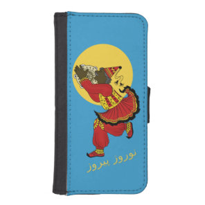 Haji Firooz Blue Sky Eid e Norooz Wallet Phone Case For iPhone SE/5/5s