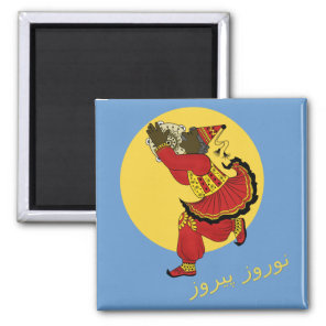 Haji Pirooz Blue Sky Persian New Year Magnet