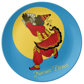 Haji Pirooz Blue Sky Persian New Year Plate