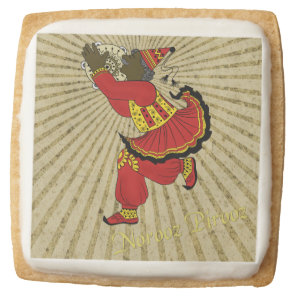 Hajji Piruz Solar Rays Persian New Year Square Shortbread Cookie
