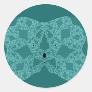 Häkeldeckchen Lace Doily Round Stickers