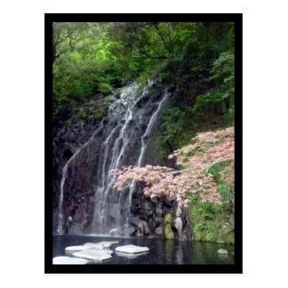 hakone falls japan post card