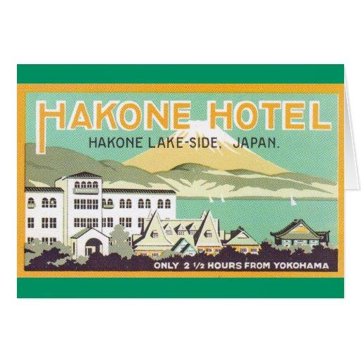 Hakone Hotel Japan Greeting Card
