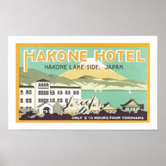 Hakone Hotel (white) Poster