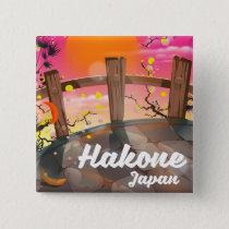 Hakone japan blossom poster. button