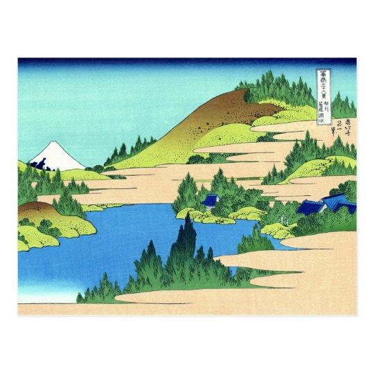 Hakone Lake, Hokusai Japanese Fine Art Postcard