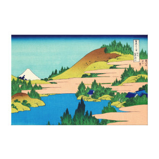 Hakone Lake in Sagami Province Gallery Wrapped Canvas