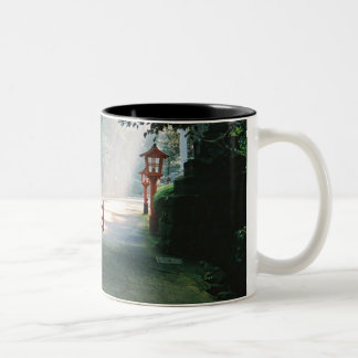 Hakone Peace Shrine Two-Tone Coffee Mug