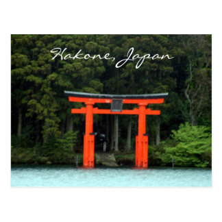 hakone red torii post cards