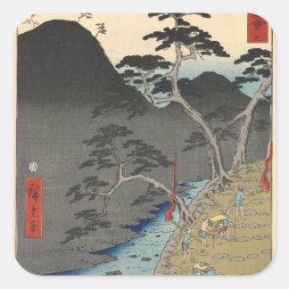 Hakone Square Sticker