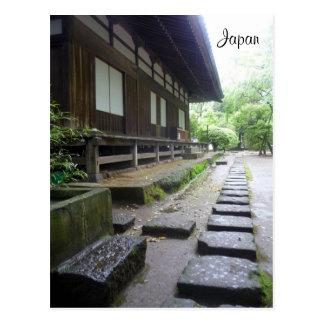 hakone temple postcard