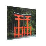 hakone torii canvas stretched canvas print