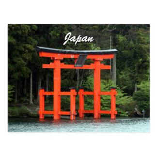hakone torii japan post card
