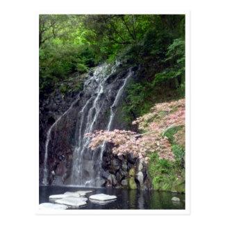 hakone water falls post card