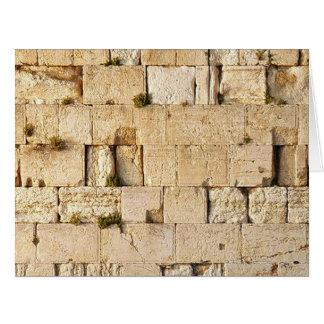 HaKotel - la pared occidental Tarjeta De Felicitación Grande