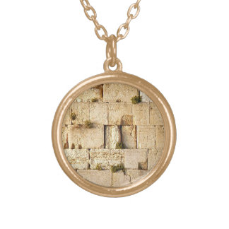 HaKotel  - The Western Wall In Jerusalem Gold Plated Necklace