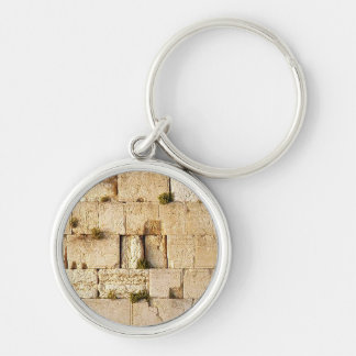 HaKotel  - The Western Wall In Jerusalem Silver-Colored Round Keychain