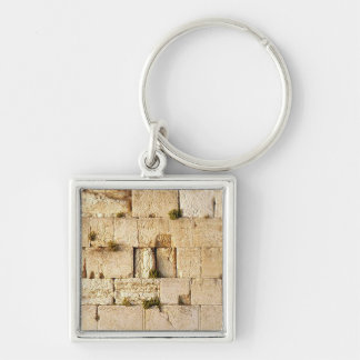 HaKotel  - The Western Wall In Jerusalem Silver-Colored Square Keychain