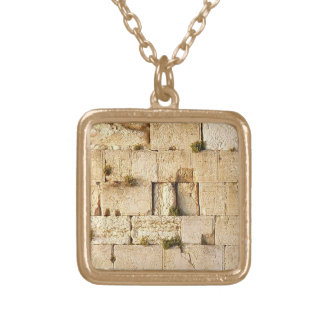 HaKotel  - The Western Wall In Jerusalem Square Pendant Necklace